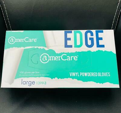 AmerCare Edge LARGE Vinyl Powdered Gloves ~ Box of 100 ~ FREE SHIPPING!