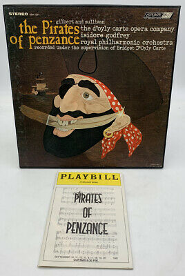The Pirates Of Penzance LP 2 Record Set Plus Playbill London Stereo 20-846A