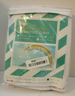 "Biloban Hypoallergenic Waterproof Baby Fitted Crib Mattress Pad Cover 18"" x 36"""