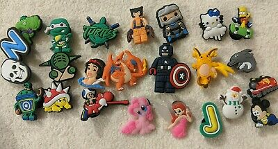 Shoe Charms Lot Pokemon Disney Marvel Avengers Mario Brothers Star Wars X-Men