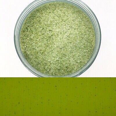 Olive Green Coarse Frit Transparent 20g Fused Fusing Glass Bullseye COE90 Craft