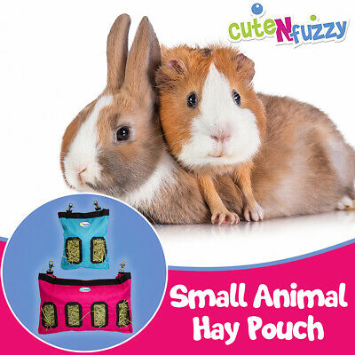 CuteNfuzzy Small Animal 1000D Nylon Hay Pouch Feeder for Guinea Pigs and Rabbits