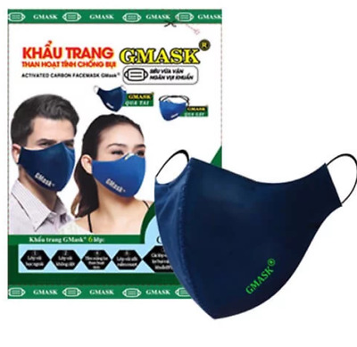 Face Mask Gmask- BFE activated carbon filter washable/reusable mask & filter