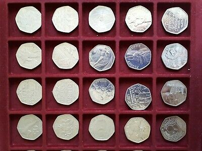 UK Circulation 50p Fifty Pence Coins Rare Collectable Valuable