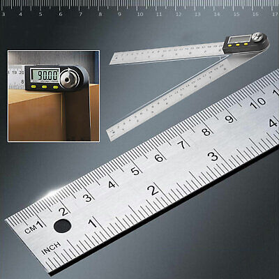 Digital LCD Angle Finder Stainless Steel Rule Trend Ruler 360 Degree Gauge