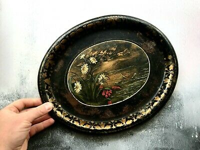 Victorian Painted Tin Tray