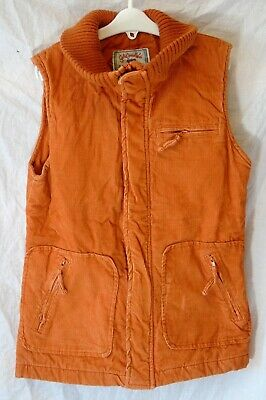 Girls H&M Dusky Orange Cord Lightly Padded Gilet Bodywarmer Age 12-13 Years