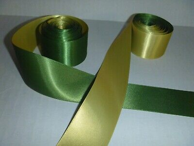 Double Face Satin  Ribbon-1.5 Inches- Olive Green-10+ yards