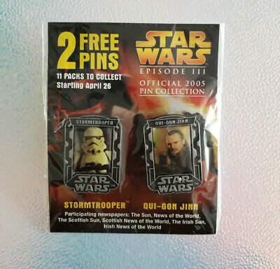 Star Wars Episode 3 Badges 2005 Official Pin Badge Collection STROOMTROOPER QUI