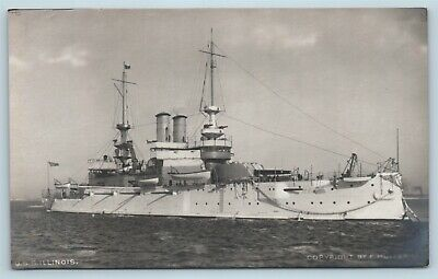 Postcard USS Illinois RPPC E Muller Real Photo Pre 1907 V10