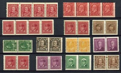 CANADA - 13 NH Coil Pairs & Strips - Collection Remainder - (gr.286)
