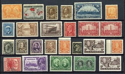 CANADA - 25 NH Stamps - Collection Remainder - (gr.310)