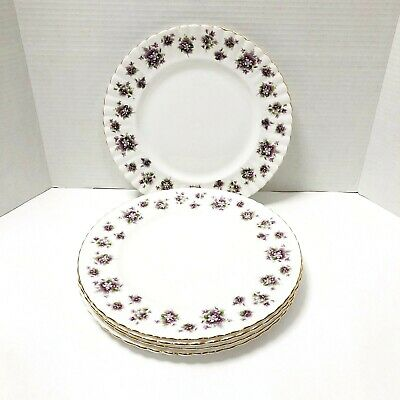 "Royal Albert Sweet Violets Dinner Plate 10 1/4"" (4 Pieces)"