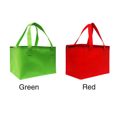 2Colors Insulated Thermal Food Storage Holder Holds Picnic Pizza Delivery Bag