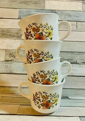 "Corelle by Corning ""Indian Summer"" Set of 4, 8 oz. ~Coffee Tea Cup Mug~ EUC"