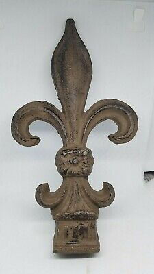 "Fleur de Lis Vintage Cast iron Finials 9.1/2"" tall x 5"" wide"