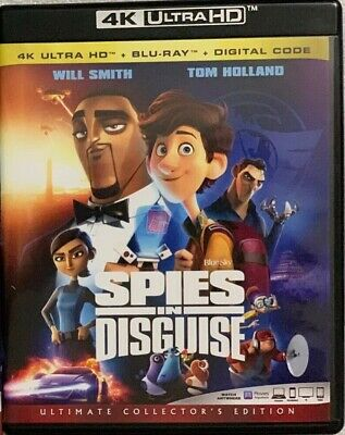 Spies In Disguise 4K Ultra Hd Blu Ray 2 Disc Set Free World Wide Shipping Buy It