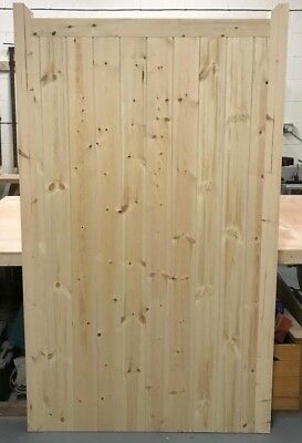 Wooden Frame Ledge & Braced Side Gate With Horns (6ft) 1800mm Made To Measure!