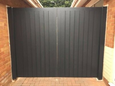 Wooden Driveway Gates 1800 (6ft) Flat Top, Made To Measure!