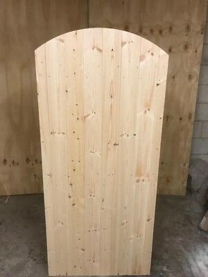 Wooden Garden Side Gate Curve Top Heavy Duty (6ft) 1800mm Made To Measure!