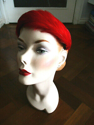 PRETTY VINTAGE 1950s FEATHER HAT BAND