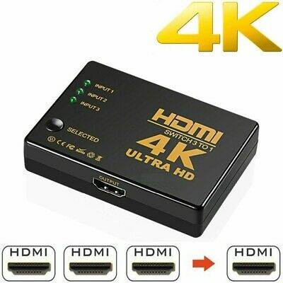 3 Port HDMI Switch AUTO Switcher Splitter Selector HUB Box Cable for HDTV PS3