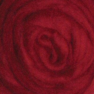 Wistyria Editions 12-Inch Wool Roving 022-Ounce Cherry Red