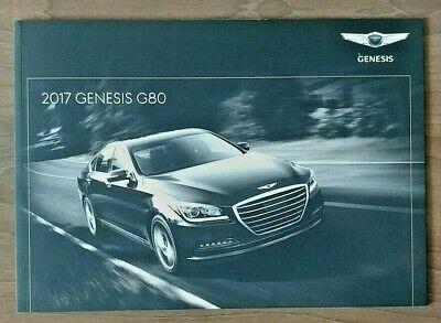 2017 GENESIS G80 Sales Brochure Catalog US 17 Hyundai 3.8 5.0