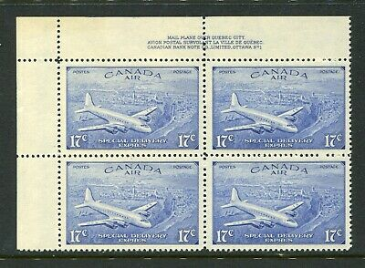CANADA Scott CE4 - NH - UL Plate 1 - 17¢ Air Mail Special Delivery (.001)