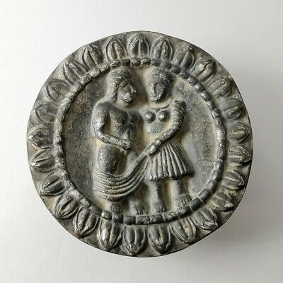 Ancient Gandhara / Greek Silver Plaque Plate Rare Erotic Tray Embossed #407