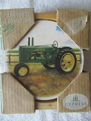 John Deere Absorbent Coasters - Box of 4 with Caddy.