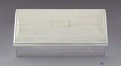 c1940s Handsome Sterling Silver Cigar / Dresser Box by Andrew Taylor