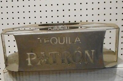 Used Patron Tequila Bar Top Display /Bottle Holder