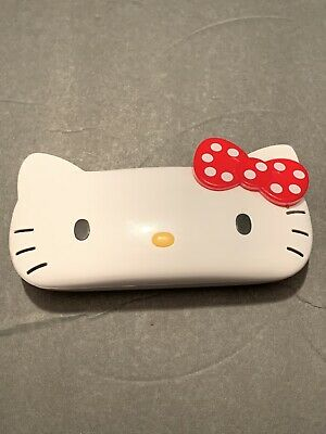 RARE Sanrio Hello Kitty Head Cut Out Eyeglass Hard Case Holder HTF Hard Shell