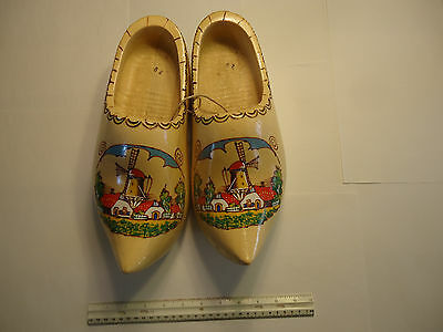 Pair of Large Decorative Wooden Clogs from Holland
