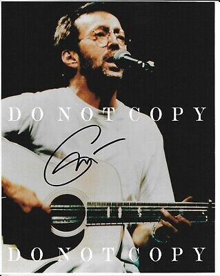 """Eric Clapton Hand Signed Autographed 8x10"""" - NOT a Reprint!!"""
