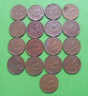 17 Irish Decimal Half Penny Coins 1/2p 1971 1975 1978 1980 Old Ireland