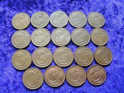 Ireland One Penny Coins Full Set Every Year 1971-2000 19 Coins Old Irish 1p Eire