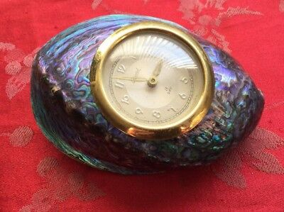 Abalone Strut Clock With Record 8 Day  Platform Movement  For Spares Or Repair