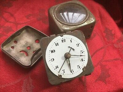 Vintage Quality Alarm Clock movement And Case For Spares Repair