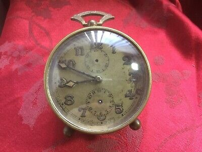 Vintage Quality Zenith Alarm Clock movement And Case For Spares Repair Running
