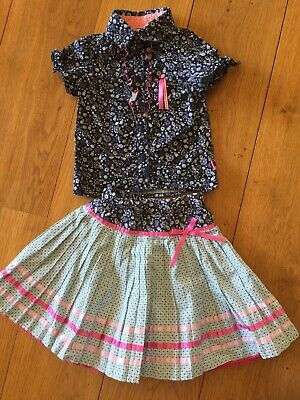 Cakewalk By Oilily Outfit Pleated Skirt Top Shirt Alice Elves In Wonderland 4y