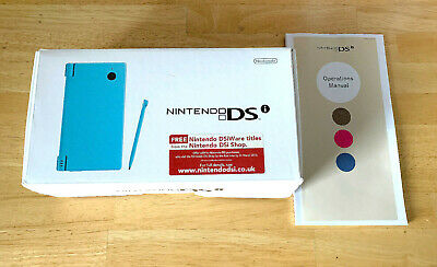 *NO CONSOLE* NINTENDO DSi PACKAGING + INSERTS ONLY DS BOX LIGHT BLUE