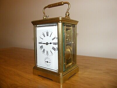 Superb French 5 glass repeating, striking carriage clock with alarm function GWO