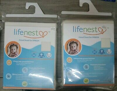 Ubimed Breathable Fitted Sheet for Lifenest, Cream, SET OF 2
