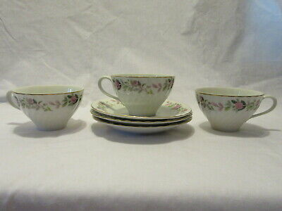 Creative Regency Rose Cup & Saucer - Set of 3