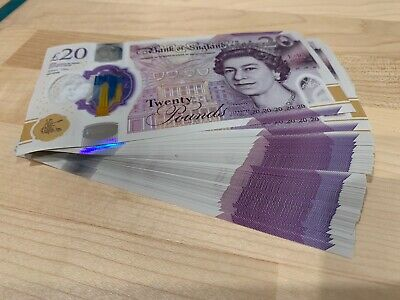 New £20 Pound Notes BD CA Turner UNC Uncirculated Consecutive - Price Per Note