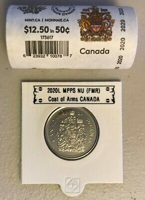 CANADA 2020 New 50 cents Coat of Arms of CANADA (BU directly from mint roll)