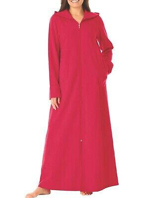 Dreams & Co. Plus Size Classic Red Long Fleece Hoodie Robe Size 4X(34/36)