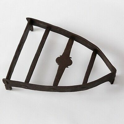 SAD FLAT IRON WROUGHT IRON STAND ANTIQUE GEORGIAN c.1780 6.5in L